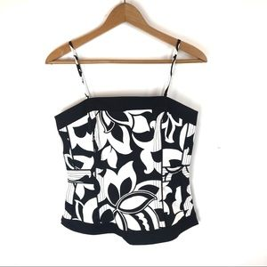 White House Black Market Floral Bustier Tank Top